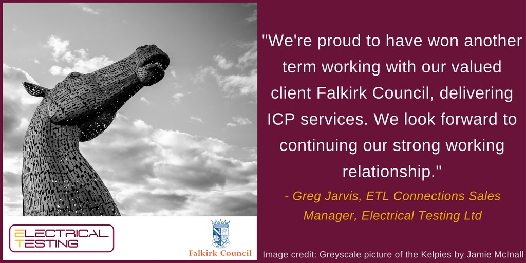Electrical Testing Have Been Re-awarded The ICP Connections Contract In Falkirk Council